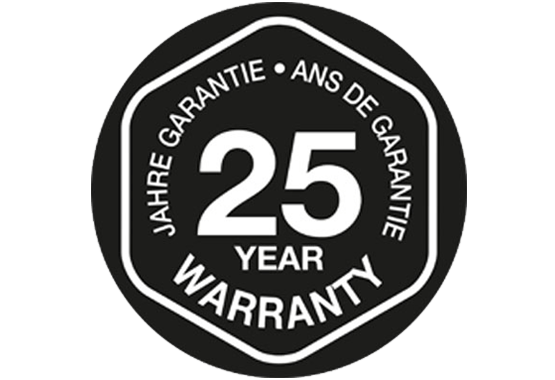 Register for 25 years of use – Guaranteed