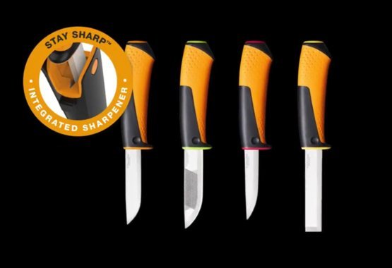 New range of utility knives with integrated sharpener